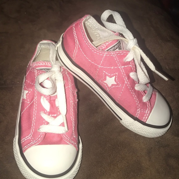 1d85a22e5ff9 Converse Other - Toddler Girls Pink Converse one Star Shoes size 7